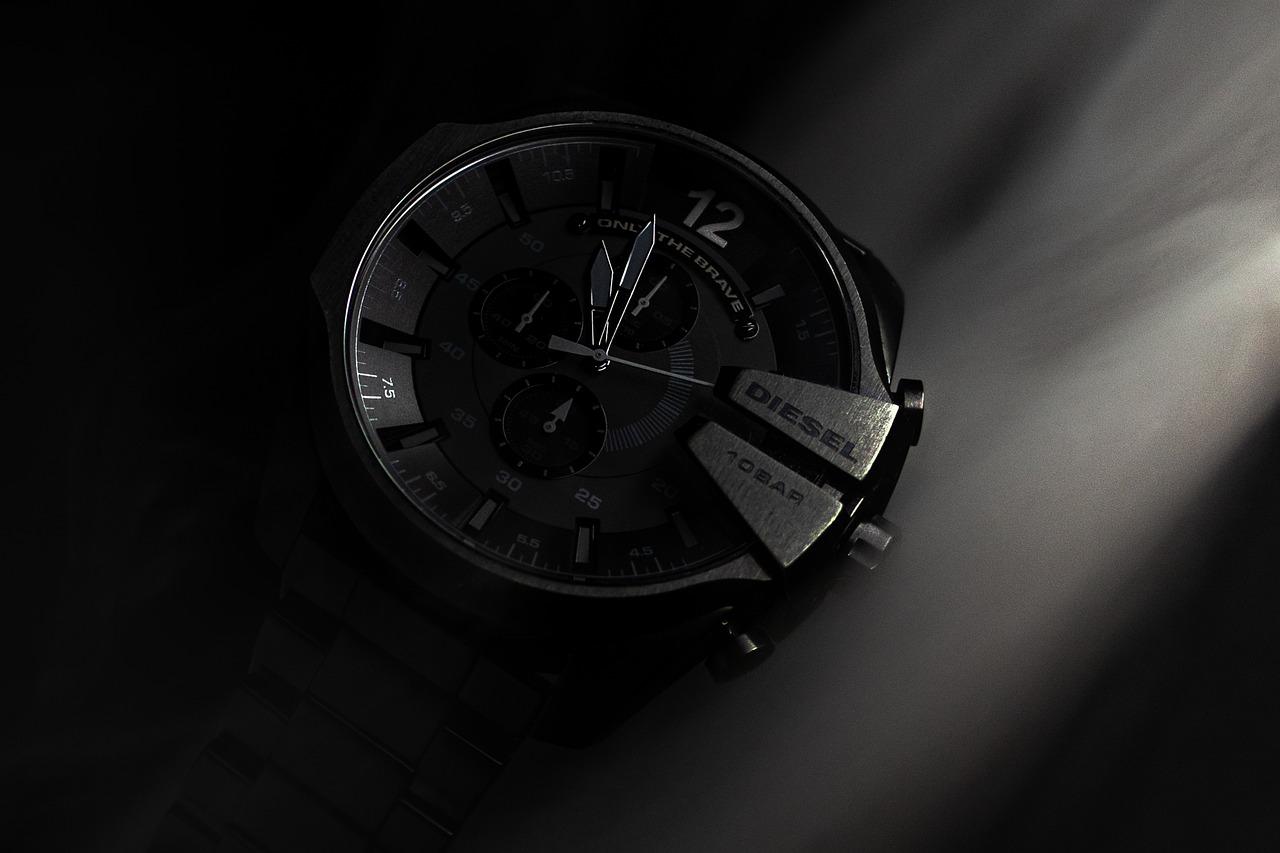 (Diesel Reloj negro, hombre)